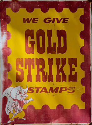 Photograph - Gold Strike Stamps by Tikvah's Hope