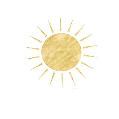Gold Sun- Art By Linda Woods Art Print by Linda Woods