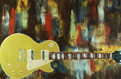 Painting - Gold Top Abstract by Chris Fraser
