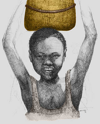 Joyful Drawing - Gold Treasure by  Albert Fennell