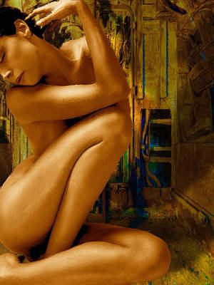 Painting - Gold Woman Nude by Tony Rubino