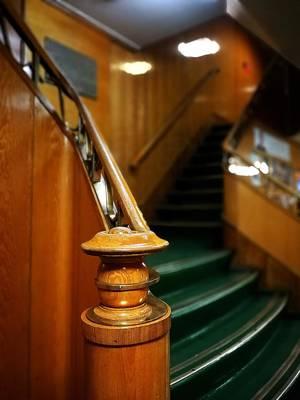 Photograph - Gold Wooden Stairs by Tamara Sushko
