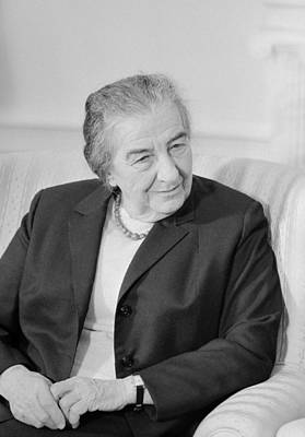 Israeli Photograph - Golda Meir - Israeli Prime Minister by War Is Hell Store