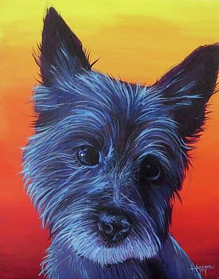 Painting - Goldberg Dog 1 by Hunter Jay