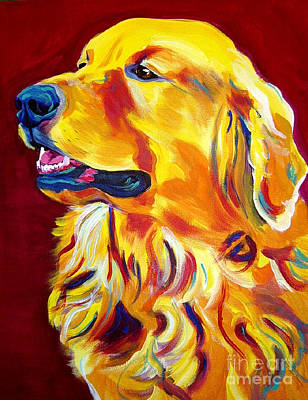 Dawgart Painting - Golden - Scout by Alicia VanNoy Call