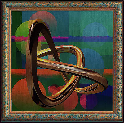 Golden Abstract Art Print