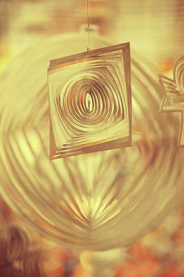 Photograph - Golden Abstract by Jenny Rainbow
