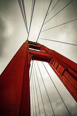 Sfo Photograph - Golden Abstract by Peter Irwindale