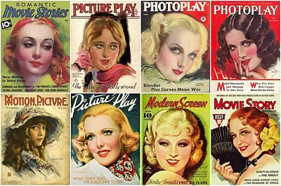 Golden Age Of Movies Magazine Covers Art Print