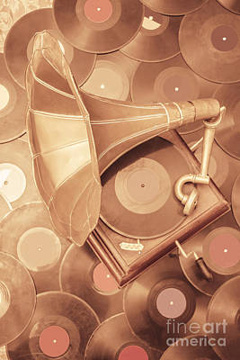Disc Photograph - Golden Age Of Sound by Jorgo Photography - Wall Art Gallery