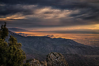 Photograph - Golden Albuquerque by Framing Places