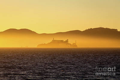Golden Alcatraz Art Print by JR Photography