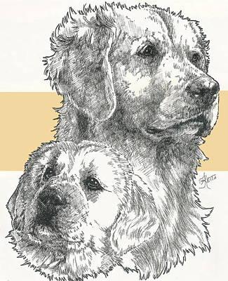 Golden And Pup Art Print