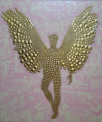 Rivets Painting -  Golden Angel by Dusko Trifunovic