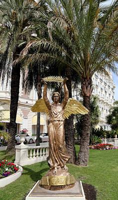 Golden Angel Statue Art Print