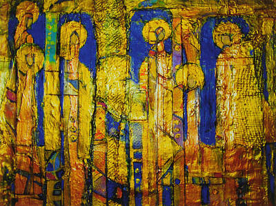 Golden Angels Art Print