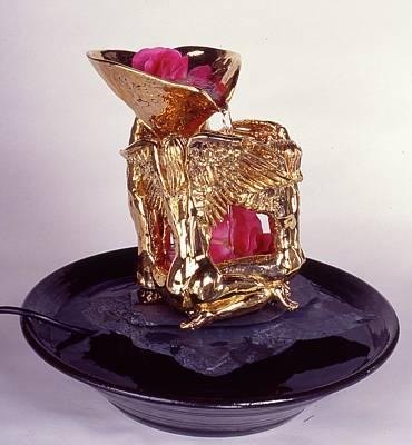 Ceramic Art - Golden Angels by Frederick Dost