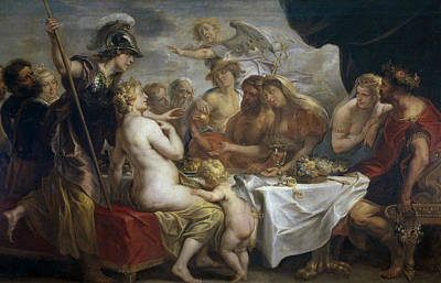 Painting - Golden Apple Of Discord by Jacob Jordaens