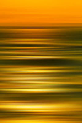Motion Photograph - Golden Aqua Bumps by Az Jackson