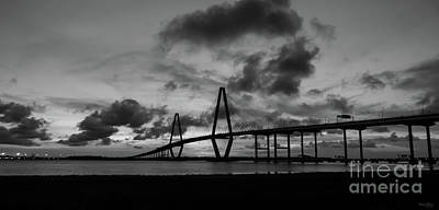 Photograph - Golden Arthur Ravenel Pano Grayscale by Jennifer White