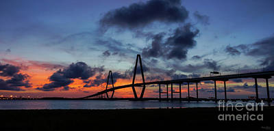 Photograph - Golden Arthur Ravenel Pano by Jennifer White