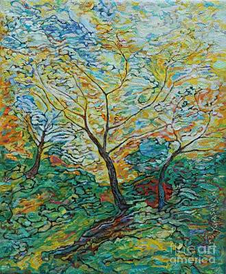 Painting - Golden Ash Trees 2 by Anna Yurasovsky