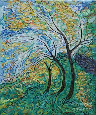 Painting - Golden Ash Trees 1 by Anna Yurasovsky