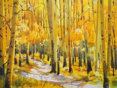 Golden Aspens Art Print by Spencer Meagher
