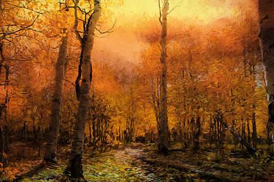 Impressionism Photos - Golden Autumn by Georgiana Romanovna