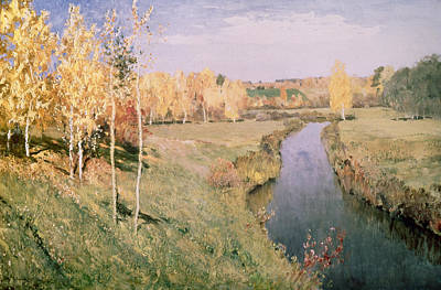 1895 Painting - Golden Autumn by Isaak Ilyich Levitan