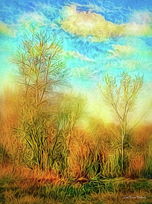 Digital Art - Golden Autumn Light by Joel Bruce Wallach