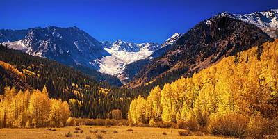 Rockies Photograph - Golden Autumn Morning by Andrew Soundarajan