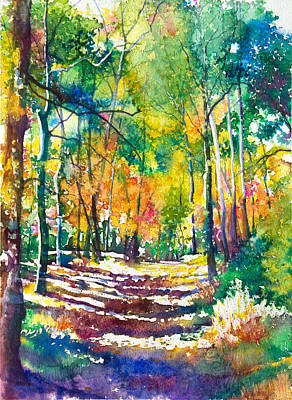 Patricia Mixed Media - Golden Autumn by Patricia Allingham Carlson