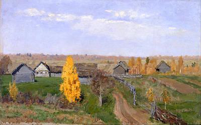 Slovakia Painting - Golden Autumn - Slovakia by Mountain Dreams