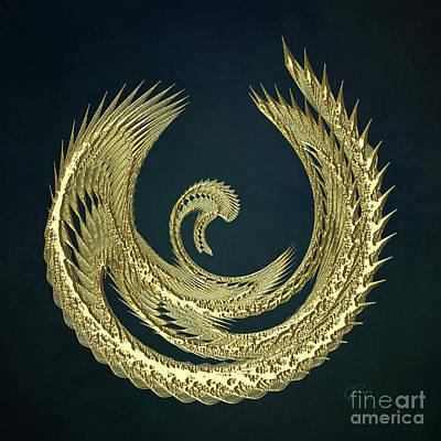 Digital Art - Golden Baby Swan Abstract by Gabriele Pomykaj