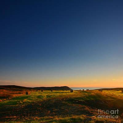 Photograph - Golden Bales Of Light  by Paul Davenport