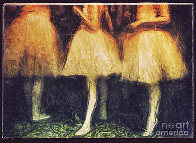 Photograph - Golden Ballerinas by Craig J Satterlee