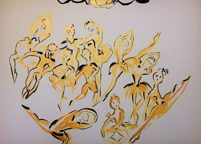 Painting - Golden Ballet  Series One  by Judith Desrosiers
