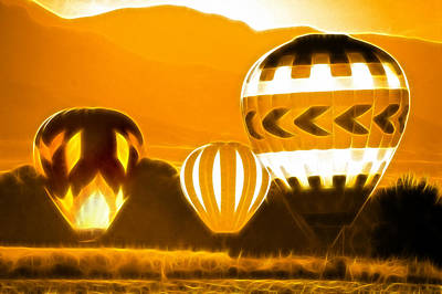 Photograph - Golden Balloon Landing by Kathleen Stephens