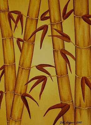 Painting - Golden Bamboo by DK Nagano