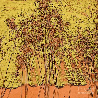 Photograph - Golden Bamboo Garden by Onedayoneimage Photography