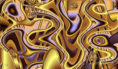 Digital Art - Golden Bangle by Ron Bissett