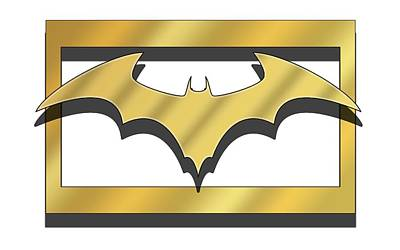Digital Art - Golden Bat by Chuck Staley