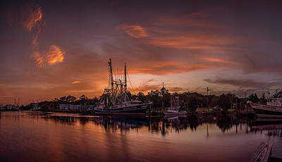 Photograph - Golden Bayou Sunset by Brad Boland