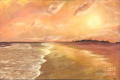 Painting - Golden Beach by Vanessa Palomino