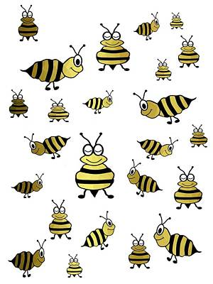 Digital Art - Golden Bees by Kathleen Sartoris
