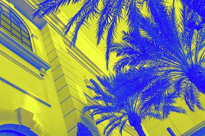 Photograph - Golden Beryl And Blue Sapphire - Jewel Colored Palms by Georgia Mizuleva