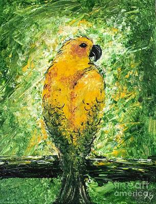 Painting - Golden Bird by Norma Gafford