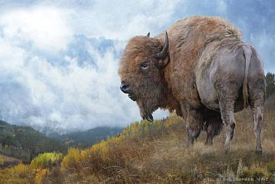 Bison Digital Art - Golden Bison by R christopher Vest