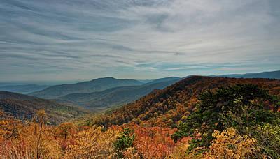 Photograph - Golden Blue Ridge Under The Clouds by Lara Ellis